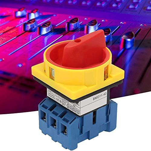 CLJ-LJ Cargar el Circuito del Interruptor del disyuntor, 40A / 63A de Carga del Interruptor automático Interruptor de 3 Polos del Interruptor de 2 Posiciones Rotary Leva de Encendido, Apagado (40A)