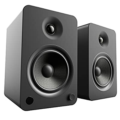 """Kanto YU6 Powered Bookshelf Speakers with Bluetooth and Phono Preamp, 5.25"""" Kevlar Driver, 200W Peak Power, Matte Black from Kanto"""