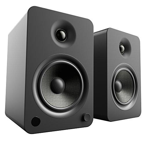 Kanto YU6 Regallautsprecher mit Bluetooth und Phono Vorverstärker - Matt Schwarz