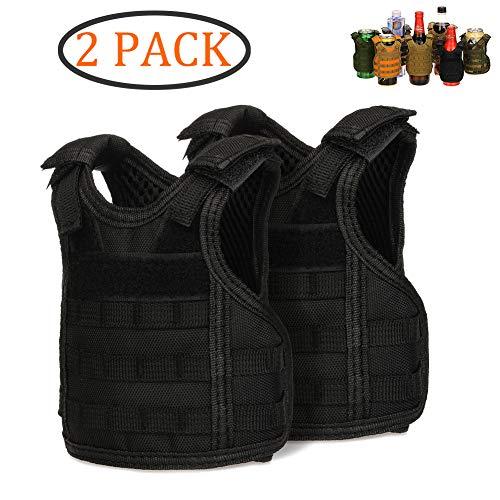 DSMY Bottle Vest Tactical Beverage Cooler Military Beer Mini Molle Vest Hunting Bottle Drink Adjustable Shoulder Straps