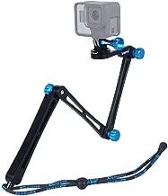 Smatree X1 Aluminium Foldable Pole 3-Way Ajustable Selfie Stick Compatible for GoPro Hero Fusion 8/7/6/5/4/3+/3/Hero (2018)/DJI OSMO Action Camera