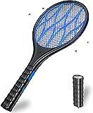 DOUHE Raquette Electrique Insectes, 4000 Volts, USB Raquette Anti Moustique, Lampe de Poche Amovible, Protection de Maille 3 Couches, Idéal pour l'intérieur et l'extérieur(Noire)