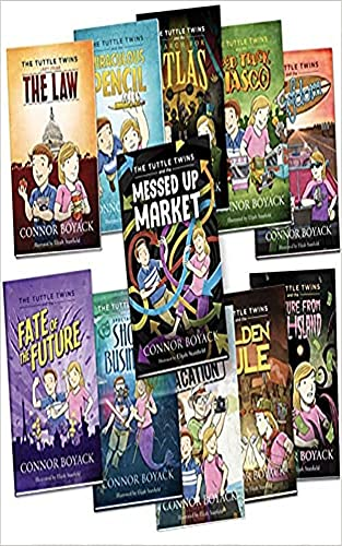 The Tuttle Twins Set of 11 by Connor Boyack: The Law, The Golden Rule, Miraculous Pencil, Education Vacation (English Edition)
