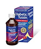 Diabetic Tussin DM Maximum Strength Cough and Chest Congestion Relief Liquid Cough Syrup, Safe for Diabetics, Berry Flavored, 8 Fluid Ounce