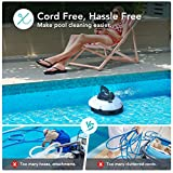 AIPER SMART Cordless Automatic Pool Cleaner, Strong Suction with 2pcs Upgraded Motors, Lightweight, IPX8 Waterproof, Auto-dock Robotic Pool Cleaner, Ideal for Above/In-ground Flat Pool Up to 538+Sq Ft