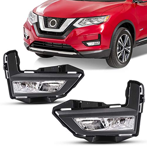 DLAA Fog Lights For NISSAN ROGUE/X-TRAIL 2017 2018 2019 2020 Fog Lamps Assembly Replacement Clear Lens OE Style H8-12V35W
