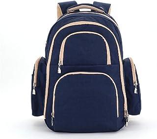 多機能おむつ交換バッグバックパック - おむつバッグベビーケアのための多機能防水マタニティおむつバックパック (色 : 濃紺, サイズ : ワンサイズ)