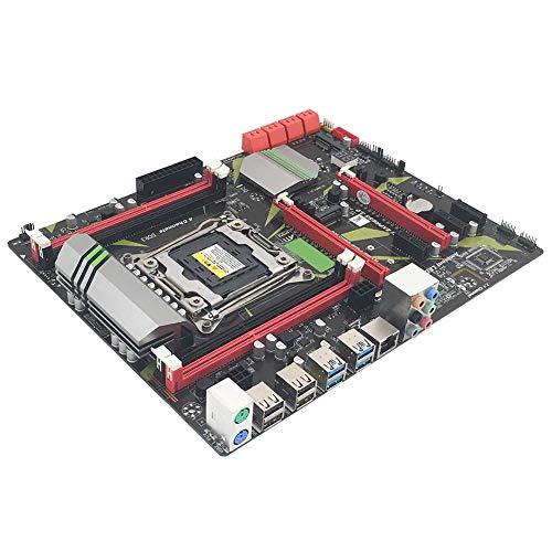 Thrivinger Zócalo De La Placa Base Intel X99 CPU LGA2011 DDR3-3 Pin E5, Interfaz WiFi/Interfaz M.2 / USB3.0, SATA3.0 / Ranura De Memoria De 4 Canales/Pantalla De Estado Digital Tarjeta De Red Gigabit