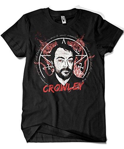 3506-Camiseta Supernatural Crowley (Ursula Lopez)