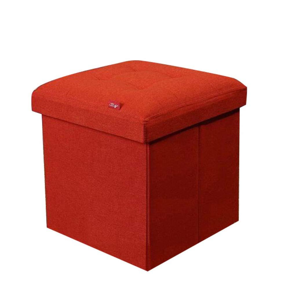 HMEIGUI Otomanas Taburete de Almacenamiento Cubo, Caja de Almacenamiento de Juguetes Plegable Banco de Almacenamiento Pecho Reposapiés Taburete Mesa de Centro: Amazon.es: Hogar
