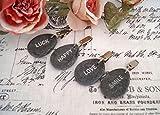 LB H&F Set 4 x Tischtuchgewicht Tischdeckengewichte grau - Steine Tischdeckenhalter
