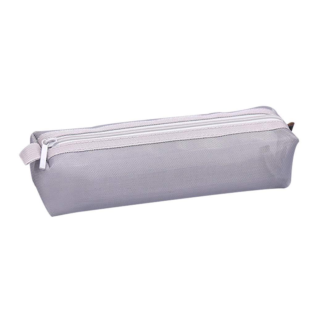 Qinlee - Estuche de malla transparente para cartas, papeles, papelería, neceser, neceser para cosméticos, estuche para cartas, papel de carta, color gris, Gris: Amazon.es: Bricolaje y herramientas