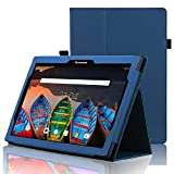 ACdream Case for Lenovo Tab 2 A10 / Lenovo Tab3 10 Business ONLY, Folio Leather Smart Cover Case for Lenovo Tab2 A10-70 / Tab2 A10-30 / TAB-X103F Tab 10 / Tab3 10 Business Tablet - Dark Blue