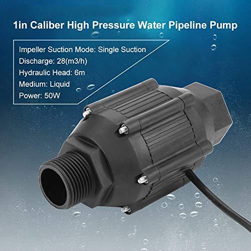 Bomba de tubería de 12 V y 50 W, bomba de tubería de agua de alta presión Jectse LG50 de 1 pulg. Bomba de tubería de succión simple para electrodomésticos, industria, cosméticos