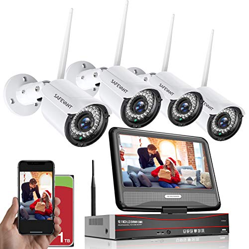 1080P Wireless Security Camera System with...