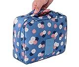 Fossen Bolsas de Aseo Maquillaje Neceser de Viaje Organizadores de Cremallera para Mujer Hombres (Azul)
