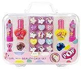 POP GIRL Mini Beauty Case Set- Neon Purple - Estuche de Maquillaje con Productos Divertidos para un Cambio de Imagen de la Cabeza a los Pies, Divertido Kit de Maquillaje, Coloridos Accesorios