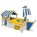 WICKEY Cama infantil con techo CrAzY Finny Cama para jugar con construcción del...