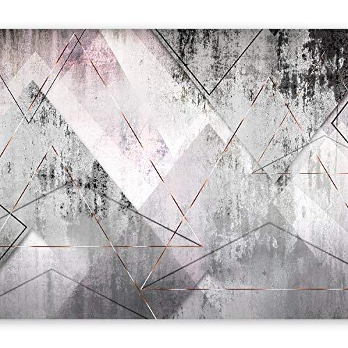 murando Fototapete Beton 400x280 cm Vlies Tapeten Wandtapete XXL Moderne Wanddeko Design Wand Dekoration Wohnzimmer Schlafzimmer Büro Flur Abstrakt geometrisch grau a-A-0350-a-a