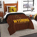 Officially Licensed NCAA Wyoming Cowboys 'Modern Take' Twin Comforter and Sham
