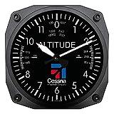 Trintec Cessna Altimeter Clock 6.5 Square with Logo by Trintec