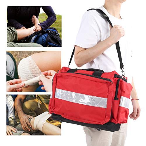 Gind Bolsa de Herramientas de Ayuda de Emergencia, Bolsa de Nailon para Equipo de Emergencia para traumatismos, Raya Reflectante de Moda para el hogar al Aire Libre