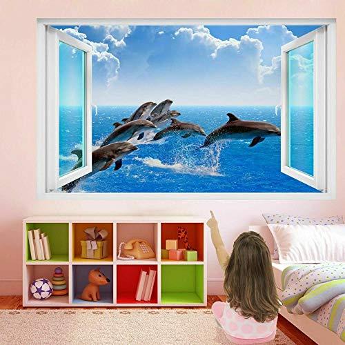 Dolphin Sea 3D Wall Art Sticker Mural Sticker Poster Printing Children's Room Decoration FP25