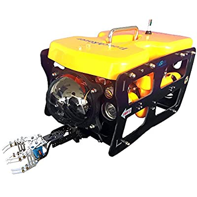 ThorRobotics Underwater Drone 110ROV Underwater Robot Camera with Mechanical arm and Ground Station Type3.Wire & Arm & Ground Station Version with 100M 6-Core Cable Wire