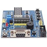 Abierto Desarrollo Tablero, A Bordo 4-dígito Pantalla Interfaz Conector Modo Poder Suministro Módulo con Tarjeta de Circuito Impreso por Aprendiendo 51