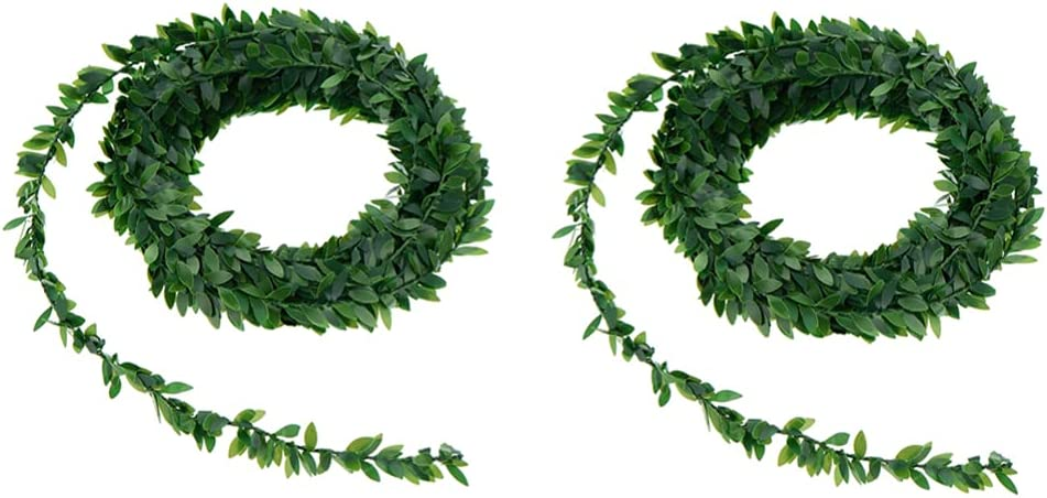 ULTNICE 2pcs Artificial Vines OFFicial store Greenery Ivy Finally popular brand Faux Vine Fake Leaves