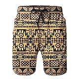 Doormats-shirt Patrón con motivos africanos con motivos africanos elásticos tropicales pantalones cortos de playa con estampado tropical fresco casual para hombres, niños y jóvenes con bolsillos