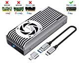 ineo M.2 NVMe (PCIe) SSD Enclosure Built-in Cooling Fan and Write Protection...