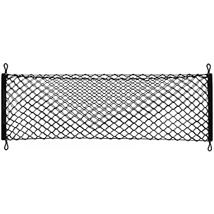 Heavy Duty Cargo Net Stretchable, Universal Adjustable Elastic Truck Net with Hooks, Storage Mesh Organizer Bungee for Car, SUV, Truck:Hitspoker