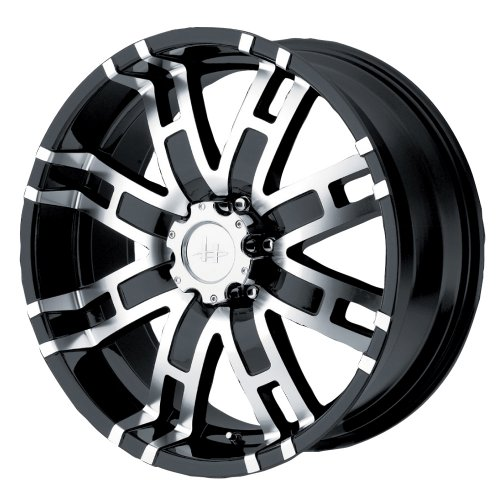 "Helo HE835 Gloss Black Machined Wheel - (17x8""/6x5.5"")"
