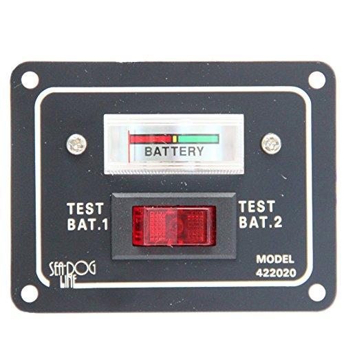 bootsshop in Bad Ischl Batterietester Schaltpaneel für Batterien für 2 Batterien