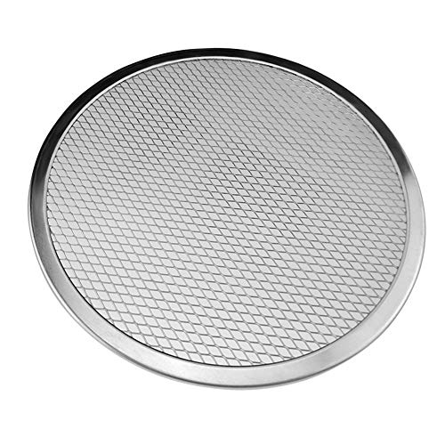 2pcs/Set Aluminum Alloy Pizza Net Round Thick Net Griddle Baking Tray Bakeware Pan for Cake Cookie Bread Biscuits Kitchen Cooking Baking Tools