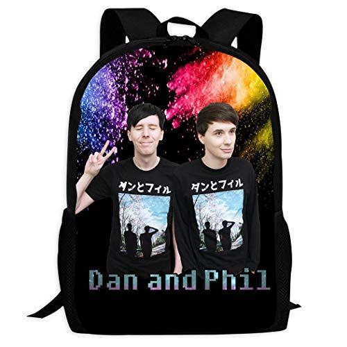 Design Kids Schoolbags Cat Whiskers_Dan_and_Phil Backpack For School Girls Boys Daypacks Rucksack Zipper