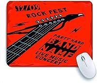 ECOMAOMI 可愛いマウスパッド ワシのロックの背景の形をしたギターのリフと音楽のポスター 滑り止めゴムバッキングマウスパッドノートブックコンピュータマウスマット