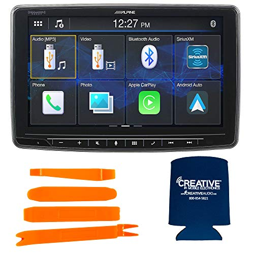 "Alpine iLX-F259 HALO9 9"" Touchscreen Mechless Digital Video Receiver - Single-DIN Mounting w/Dash Panel Tool Kit"