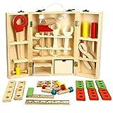 Skyeye Juguetes para Niños Juego De Juguetes De Bricolaje Rompecabezas Portátil Simulación De Madera para Niños Cerca De 36 Accesorios