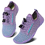 Caitin Boys Girls Water Shoes Quick Drying Aqua Beach Pool Swim Lightweight Athletic Sneakers for Little Big Kids