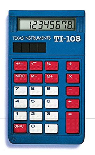 Texas Instruments TI-108 Solar Powered Calculator