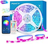 Alexa Tira LED RGB Wifi, Maxcio Tira LED Regulable Control de Voz...