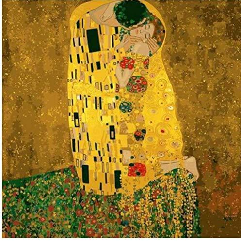 Gustav Klimt The Kiss - Malen nach Zahlen Kits für Erwachsene DIY 40X50Cm-With Frame