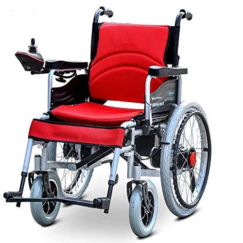 WXDP Selbstfahrender Rollstuhl, Elektrisch zusammenklappbarer, zusammenklappbarer, Leichter Allrad-Roller für ältere Menschen mit Behinderung-04, B.
