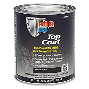 POR-15 45904 Top Coat Chassis Black Paint, 32 fl. oz., 1 quart