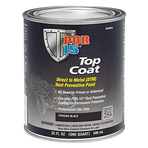 POR-15 45904 Top Coat Chassis Black Paint