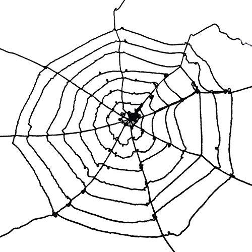 BESTOYARD Halloween Spinne Web Dekoration Wiederverwendbare dehnbar Spinnen Web Gurtband Halloween Gejagte Haus Garten Dekorationen Requisiten (Schwarze Spinnennetz)