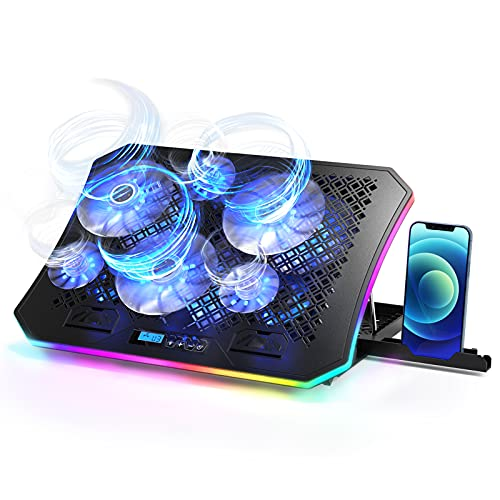 Vencci 2021 Upgrade Laptop Cooler Pad RGB Lights with 6 Cooling Fans for 15.6-17.3...