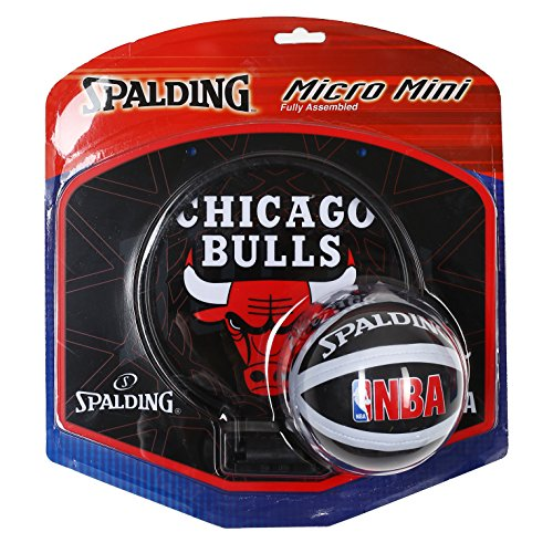 Spalding - NBA Team Micro Mini Backboard Set ? Chicago Bulls Backboard Set